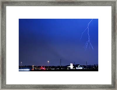 Fire Rescue Station 67  Lightning Thunderstorm 2 Framed Print by James BO  Insogna