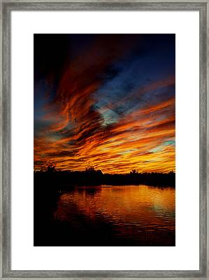 Fire Sky Framed Print by Saija  Lehtonen