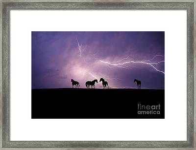 Fire Storm Framed Print by Lisa Dearing