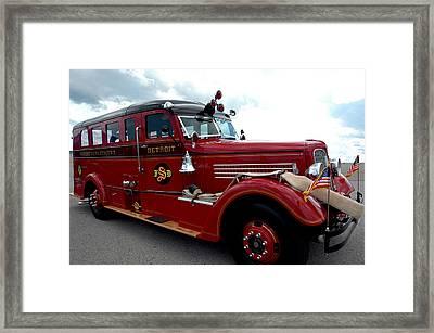 Fire Truck Selfridge Michigan Framed Print by LeeAnn McLaneGoetz McLaneGoetzStudioLLCcom