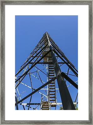 Fire Watch Tower Elba 1 Framed Print by John Brueske