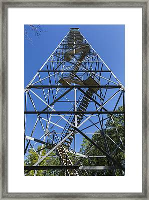 Fire Watch Tower Elba 2 Framed Print by John Brueske