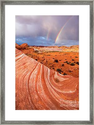Fire Wave Covenant Framed Print by Mike Dawson