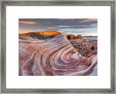 Fire Wave Framed Print by Leland D Howard