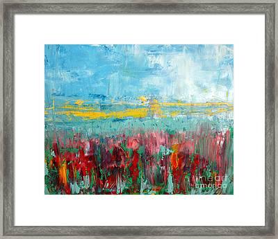 Fire Weed Framed Print by Julie Lueders