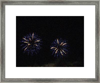 Fire Works Show Stippled Paint 1 Canada Framed Print by Dawn Hay