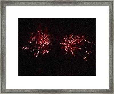 Fire Works Show Stippled Paint 6 Canada Framed Print by Dawn Hay