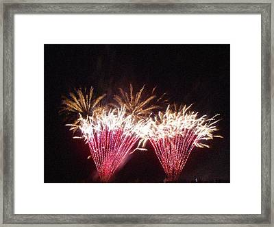 Fire Works Show Stippled Paint 7 Canada Framed Print by Dawn Hay