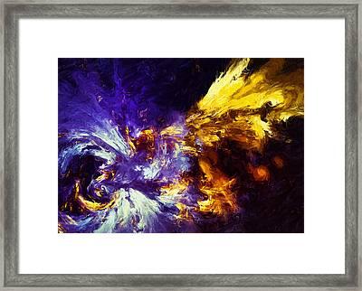 Firefly Abstract Framed Print by Georgiana Romanovna