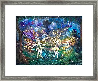 Firefly Frolic Framed Print by Patricia Allingham Carlson