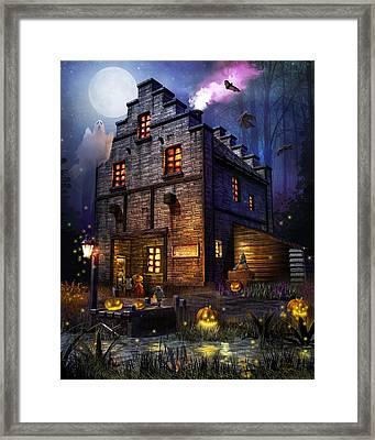 Firefly Inn Halloween Edition Framed Print by Joel Payne
