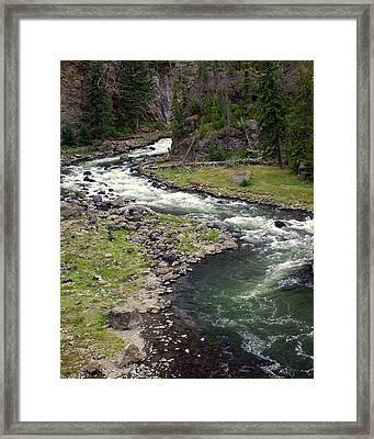 Firehole River 2 Framed Print by Marty Koch