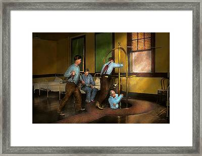 Fireman - The Firebell Rings 1922 Framed Print by Mike Savad