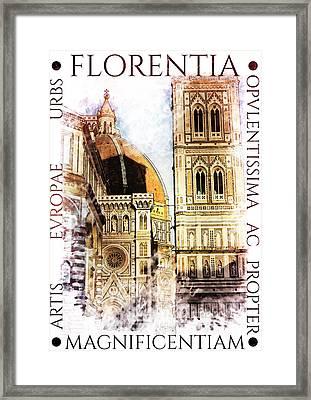 Firenze Magnifica Iv Framed Print by Diana Van