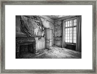 Fireplace In Decay -abandoned Building Framed Print by Dirk Ercken