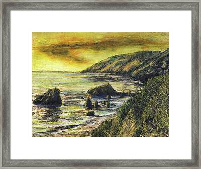 Fires Over Big Sur Framed Print by Randy Sprout