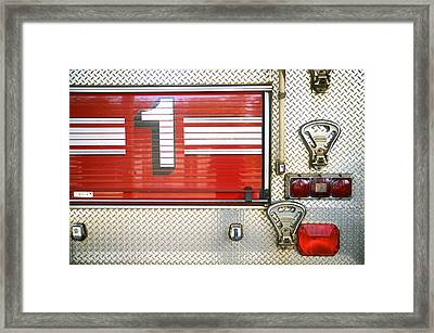 Firetruck Detail I Framed Print by Kicka Witte - Printscapes