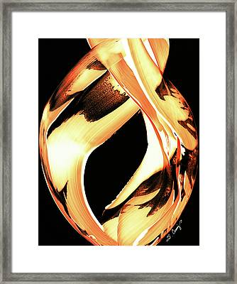Firewater 1 - Buy Orange Fire Art Prints Framed Print by Sharon Cummings