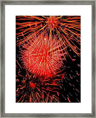 Fireworks Abstraction 2 Framed Print by Beth Akerman