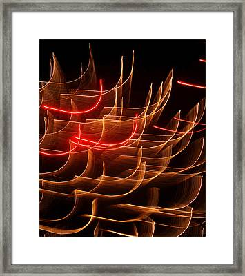 Fireworks Abstraction 3 Framed Print by Beth Akerman