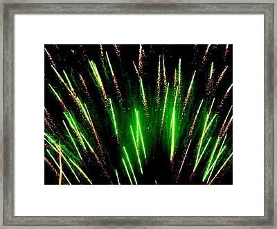 Fireworks Abstraction 5 Framed Print by Beth Akerman
