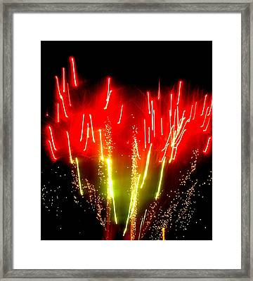 Fireworks Abstraction 6 Framed Print by Beth Akerman