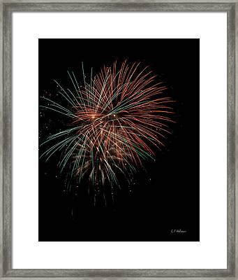 Fireworks Framed Print by Christopher Holmes