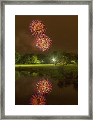 Fireworks During Fair St Louis Framed Print by Garry McMichael