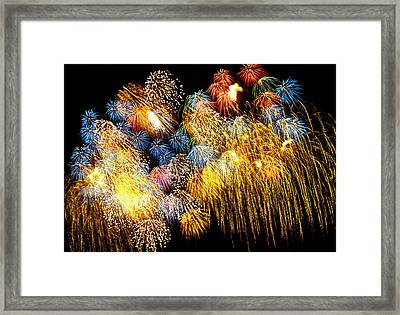 Fireworks Exploding  Framed Print by Garry Gay