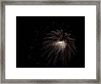 Fireworks From A Boat - 3 Framed Print by Jeffrey Peterson