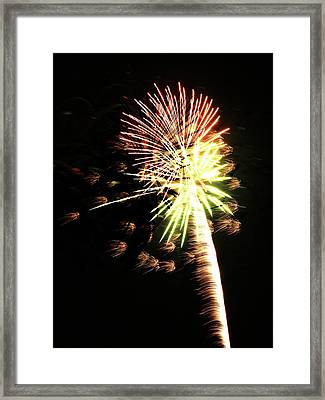 Fireworks From A Boat - 9 Framed Print by Jeffrey Peterson