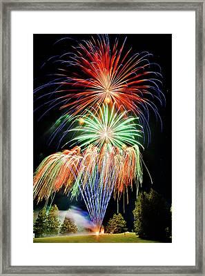 Fireworks No.1 Framed Print by Niels Nielsen