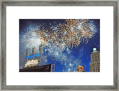 Fireworks Framed Print by Patrick Friery