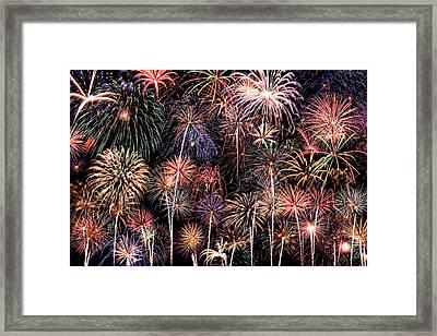 Fireworks Spectacular II Framed Print by Ricky Barnard