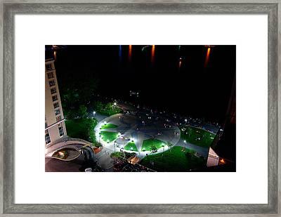Fireworks Watchers Framed Print by Paul Wash