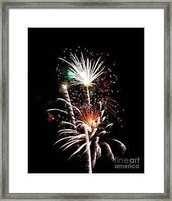 Fireworks2 Framed Print by Malcolm Howard