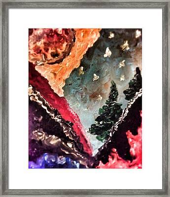 Fiery Mountainside Framed Print by Ryan Adams