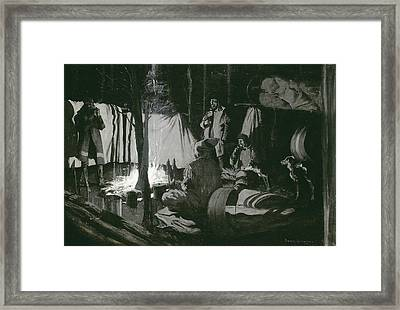 First And Best Camp Of The Trip Framed Print by Frederic Remington