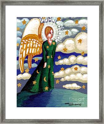 First Angel Framed Print by Genevieve Esson
