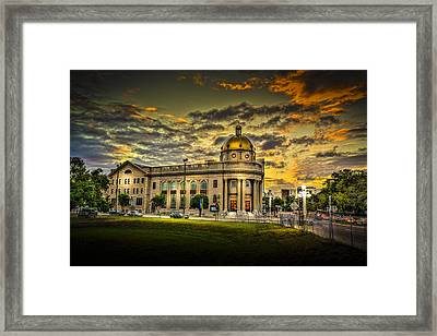First Baptist Church Of Tampa Framed Print by Marvin Spates
