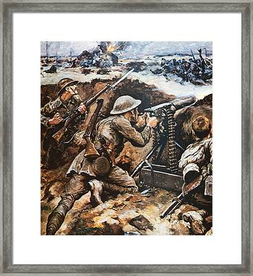 First Battle Of The Somme Framed Print by Stanley L Wood