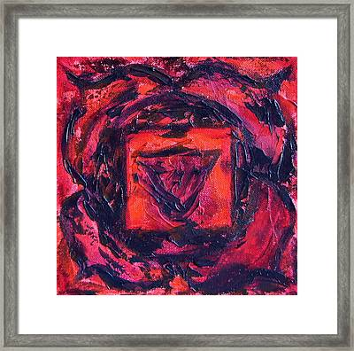 First Chakra Framed Print by Mary Haas