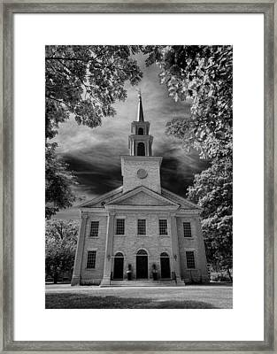 First Congregational Church Of Stockbridge Framed Print by Stephen Stookey