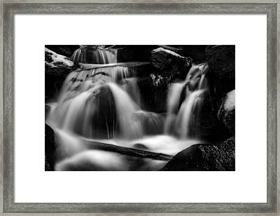 first crystals on the Bodefall, Harz Framed Print by Andreas Levi