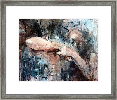 First Embrace Framed Print by Anna Shukeylo