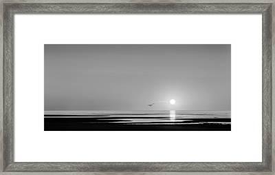 First Encounter Beach Cape Cod Bw Framed Print by Bill Wakeley
