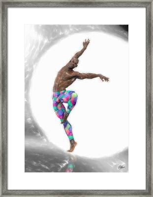 First Figure Of The Ballet Framed Print by Quim Abella