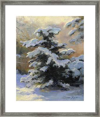 First Heavy Snow Framed Print by Anna Rose Bain