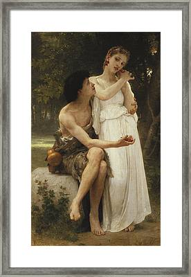 First Jewellery Framed Print by William Adolphe Bouguereau