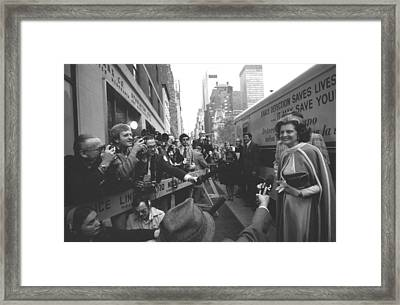 First Lady Betty Ford Became An Framed Print by Everett